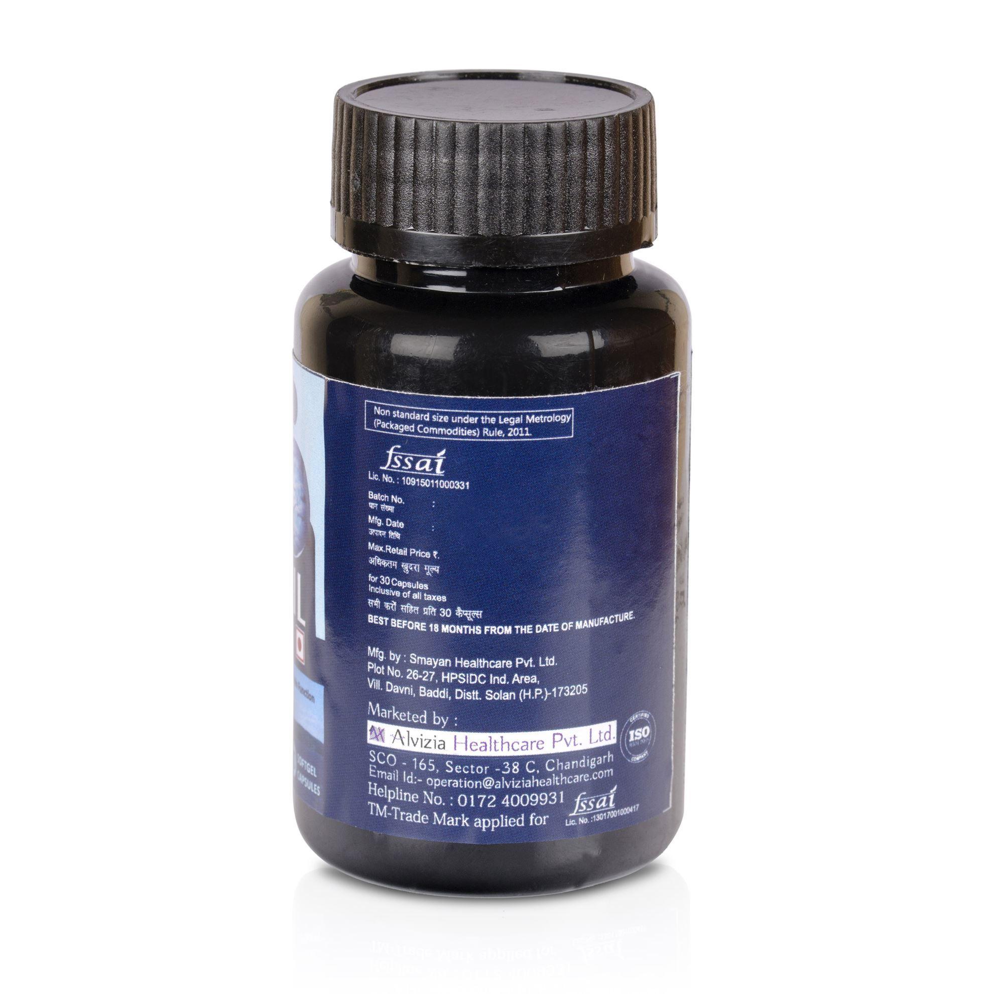 Picture of Alvizia Omega 3 Fish Oil 1000 mg Softgel 30 Capsules
