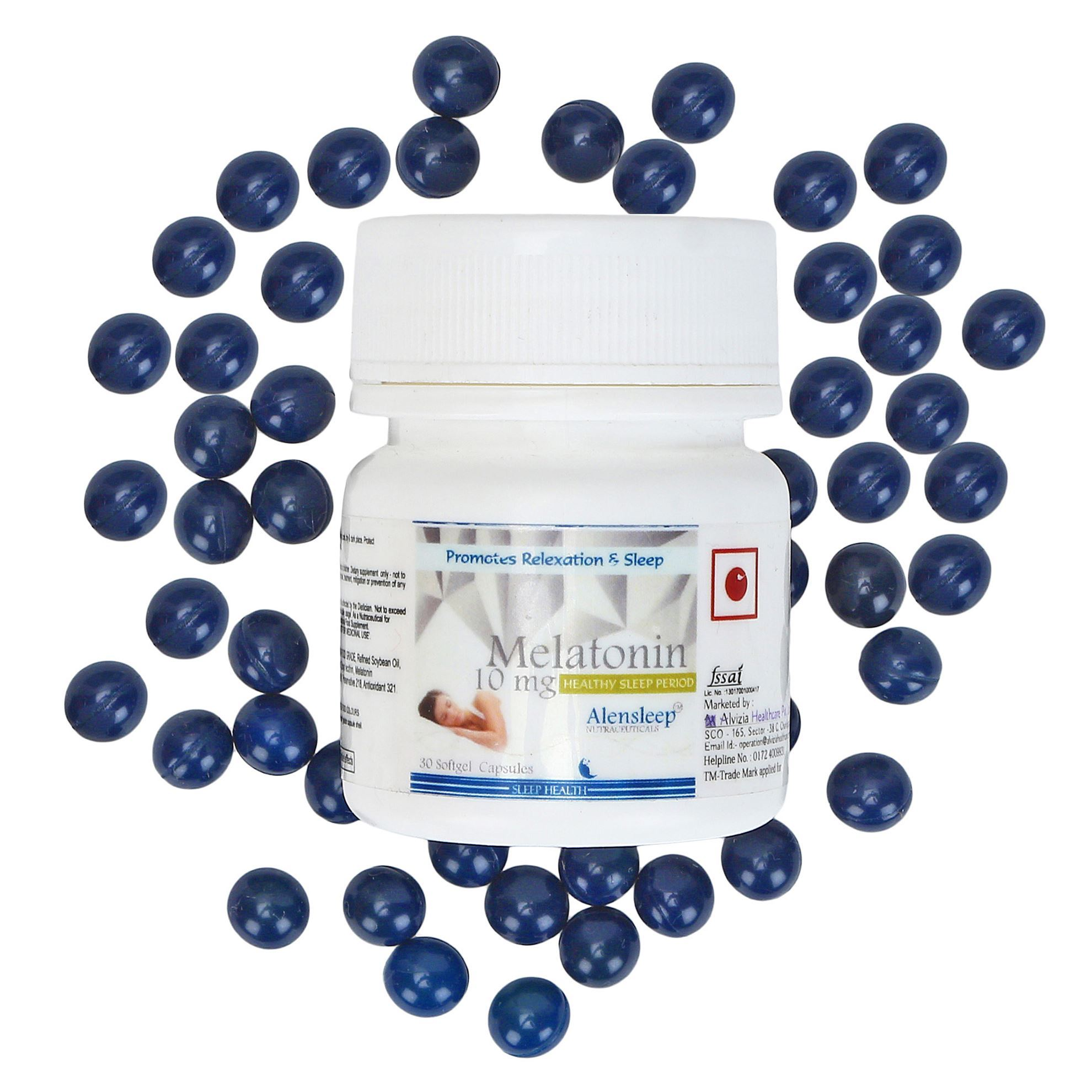 Picture of Alvizia Melatonin 10 mg Softgel 30 Capsules
