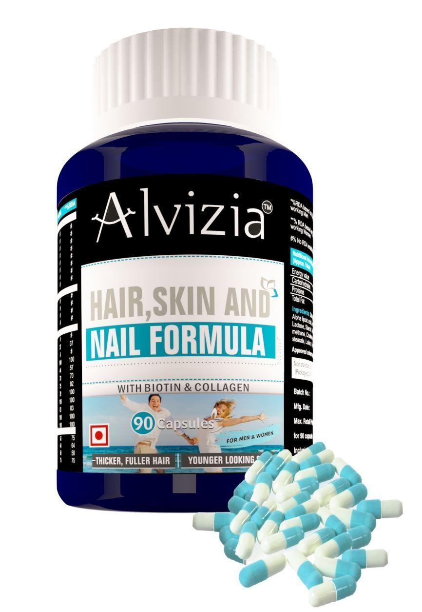 Picture of Alvizia Hair Skin and Nail Formula 90 Capsules