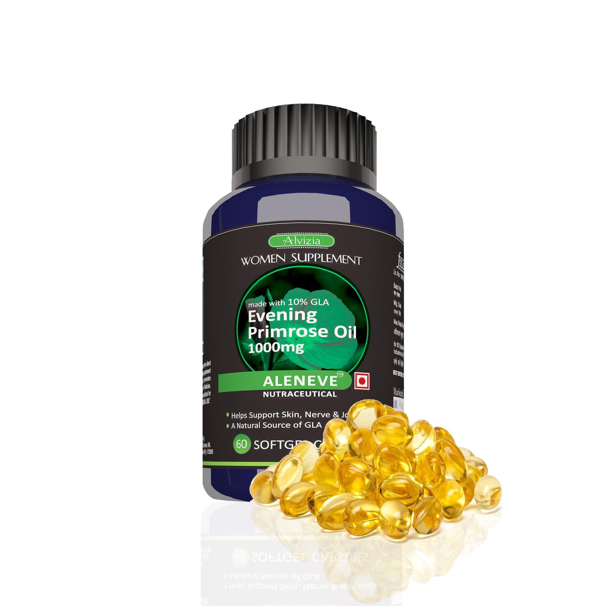 Picture of Alvizia Evening Primrose Oil 1000 mg for Women's Health 60 Capsules