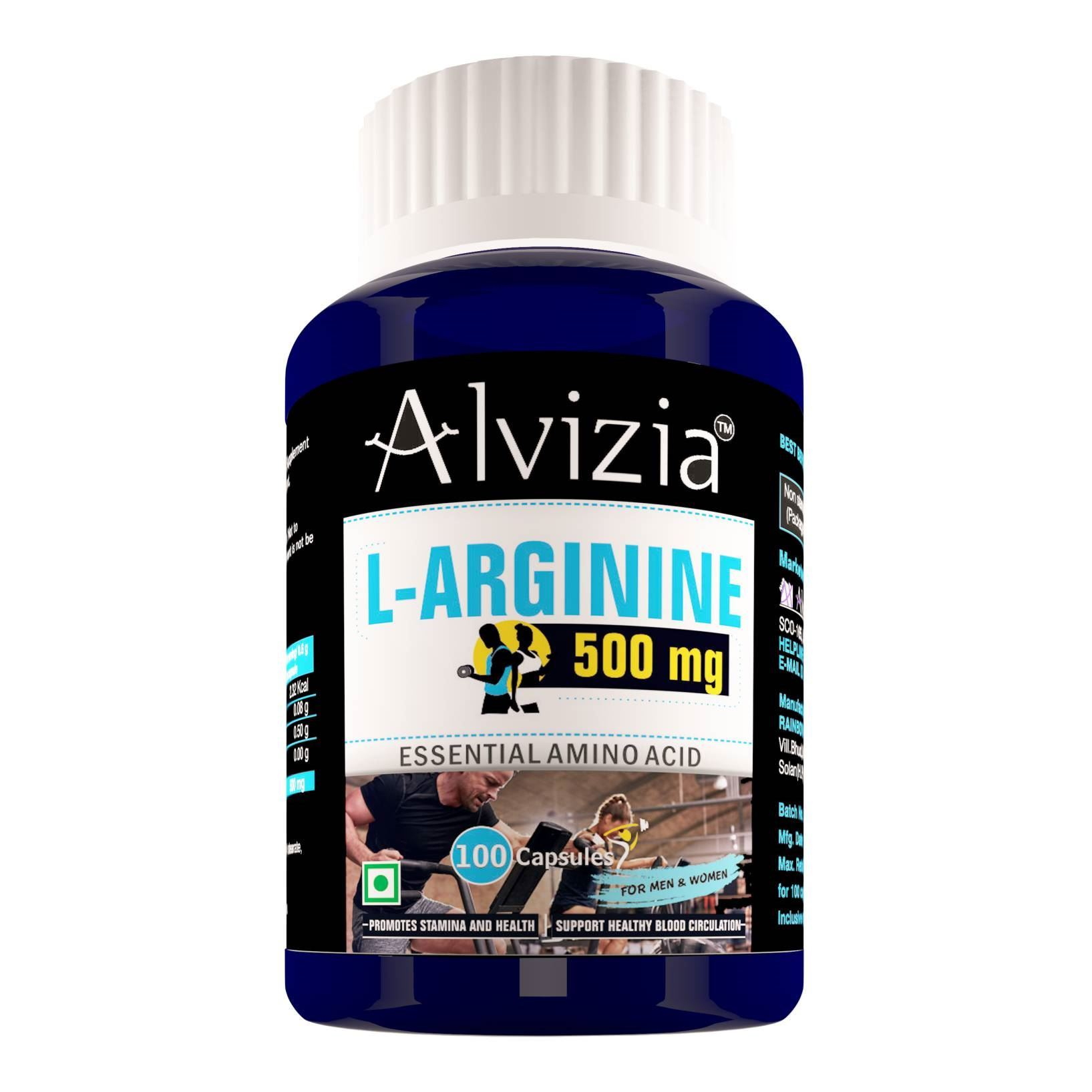 Picture of Alvizia L-Arginine 500 mg 100 Capsules