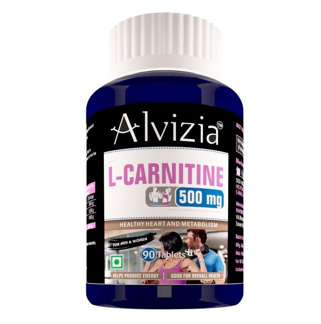 Picture of Alvizia L Carnitine 1000Mg - Pre & Post Workout Amino Acid Supplement For Muscle, Brain & Heart Health (90 Tablets)