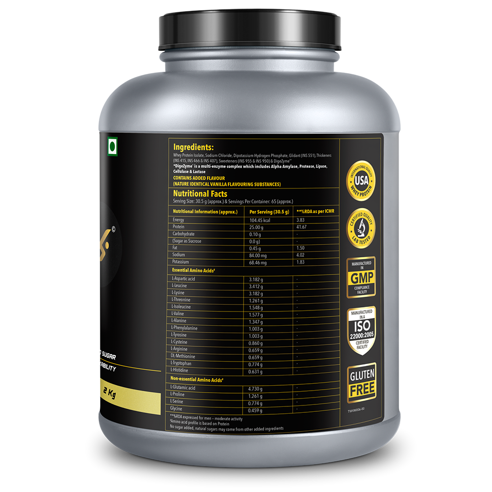 Picture of Proathlix Whey Protein Isolate Vanilla 2kg