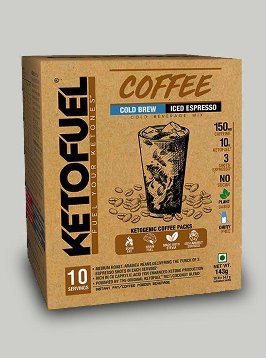 Picture of KETOFUEL® COLD BREW Keto-Coffee Iced-Espresso 10 pks
