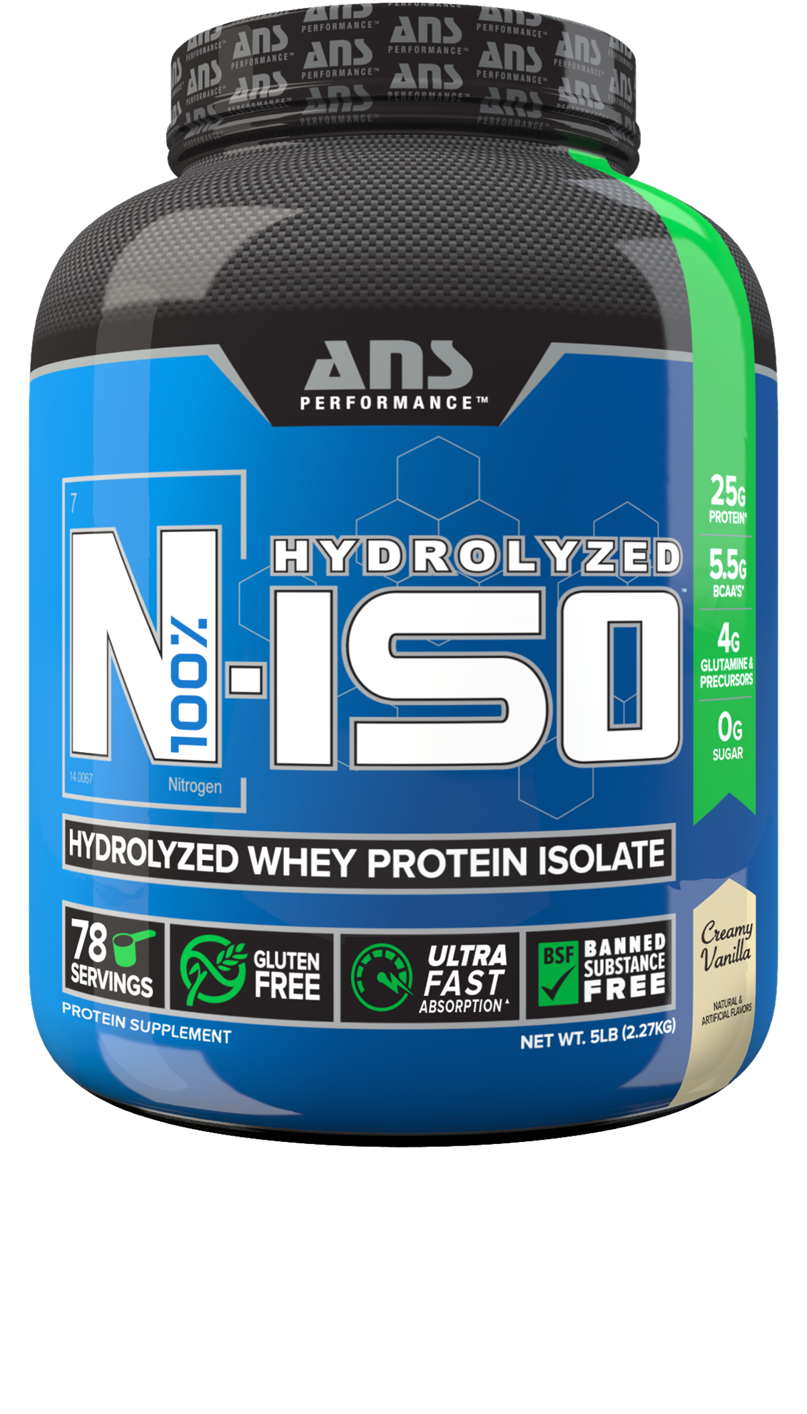 Picture of ANS Performance N ISO Hydrolysed Whey Protein Isolate Vanilla 5 lbs