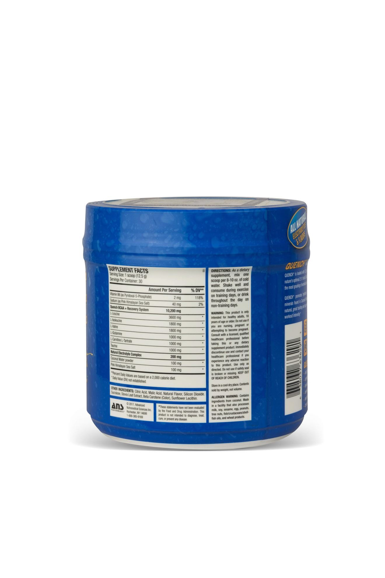 Picture of ANS Performance QUENCH BCAA Preworkout  Blue Bombsicle  30 servings