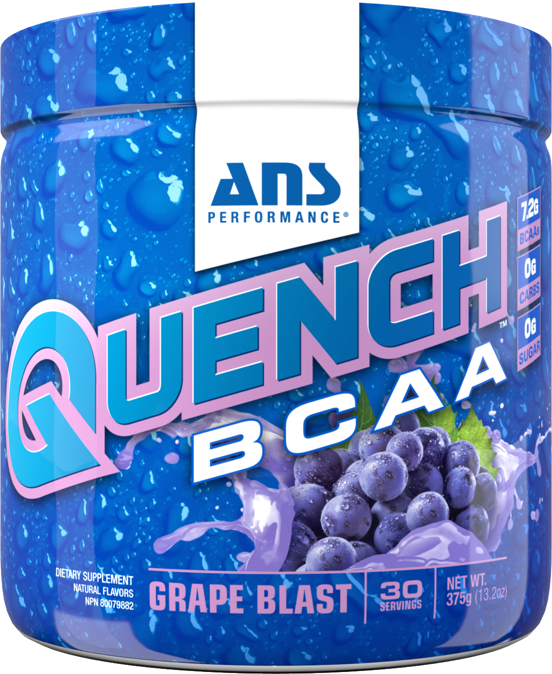 Picture of ANS Performance QUENCH BCAA Preworkout  Grape Blast 30 servings
