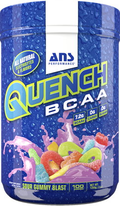 Picture of ANS Performance QUENCH BCAA Preworkout  Sour Gummy Blast 100 servings