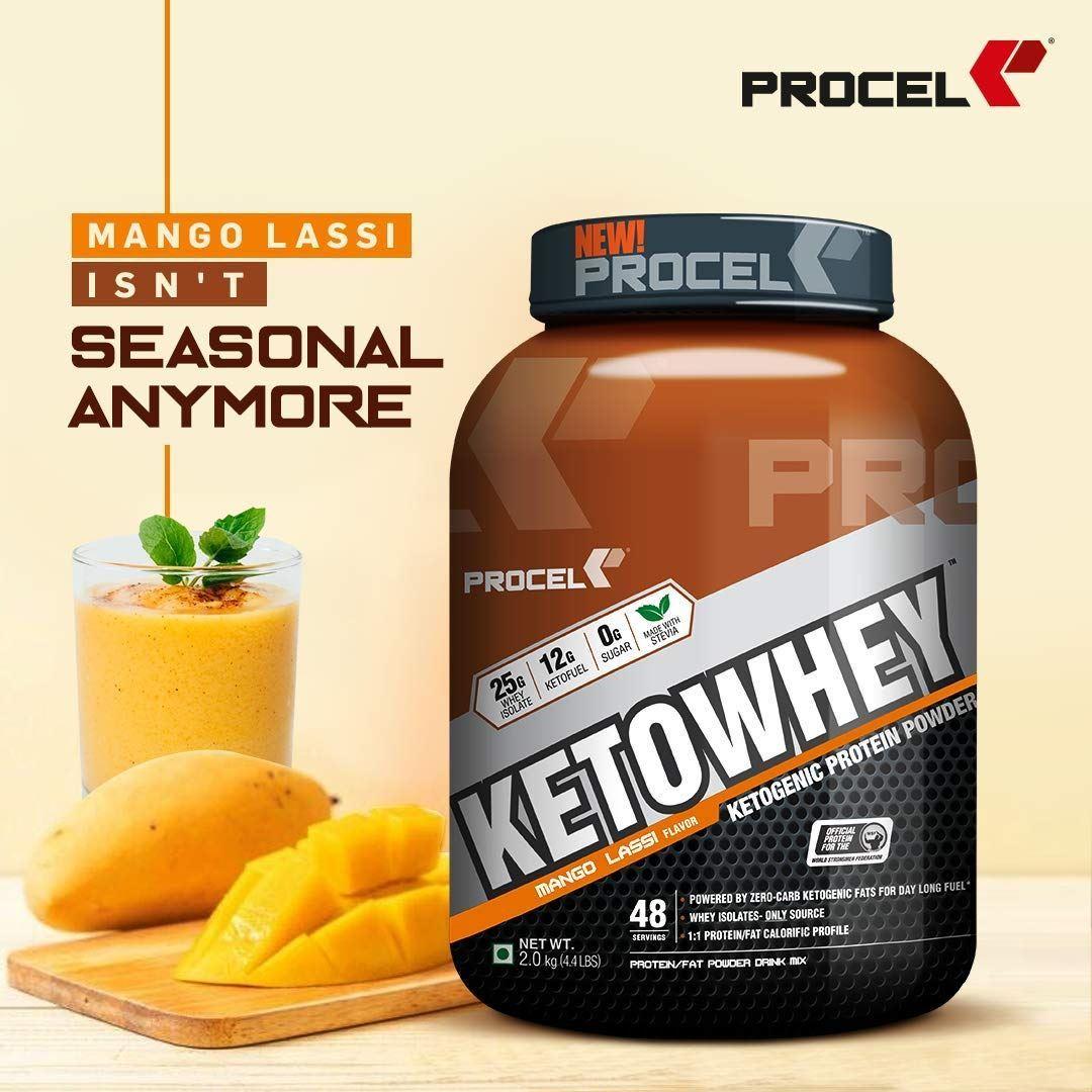 Picture of PROCEL KETOWHEY® Ketogenic Protein Powder with Ketofuel® 3kg Mango Lassi