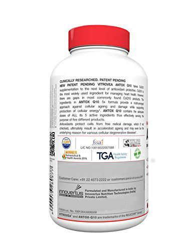 Picture of Vitrovea ANTOX-Q10 Gold Enhanced CoQ10 Antioxidant Formula with Green Tea, Grapeseed 60ct