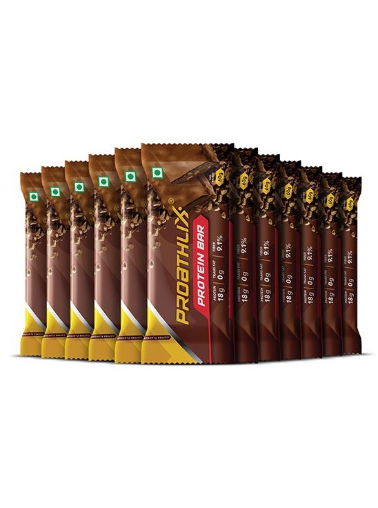 Picture of Proathlix Protein Bar with Multigrain & Omega 3 18g Protein Energy Bar 12 Bars - Coffee