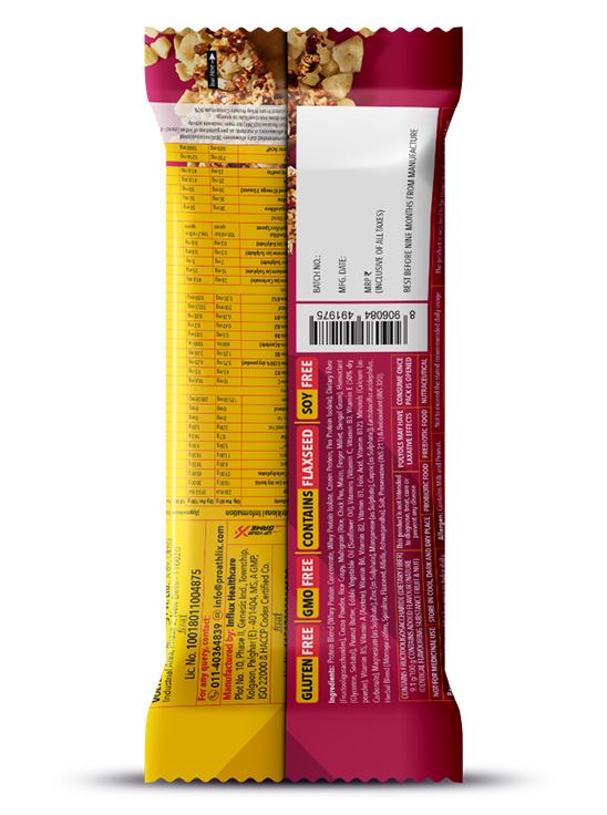 Picture of Proathlix Protein Bar with Vitamins & Minerals 18g Protein 12 Pieces-Fruit & Nut