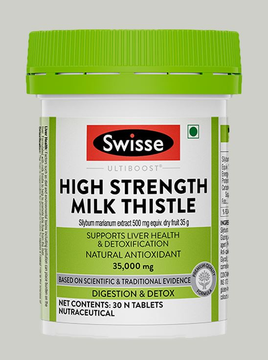 Picture of Swisse Ultiboost High strength Milk Thistle , Natural Antioxidant Supports Liver Function & Detoxification- 30 Tablets