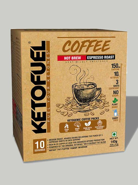 Picture of Ketofuel HOT BREW Keto-Coffee Espresso Roast 10 pks