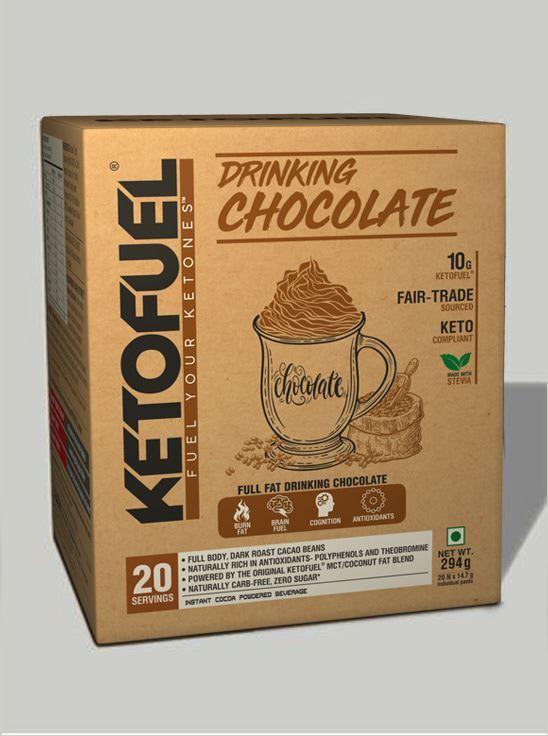 Picture of KETOFUEL® DRINKING CHOCOLATE Keto-Cocoa Powder 20 pks