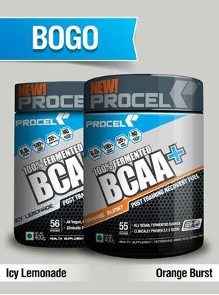 Picture of PROCEL 100% Fermented BCAA+ 400g Icy Lemonade & 400g Orange Burst- Buy One Get One Free