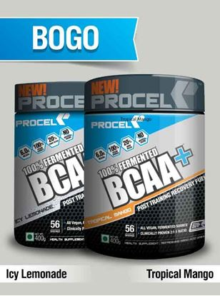 Picture of PROCEL 100% Fermented BCAA+ 400g Icy Lemonade & 400g Tropical Mango- Buy One Get One Free