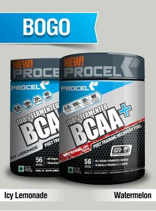 Picture of PROCEL 100% Fermented BCAA+ 400g Icy Lemonade & 400g Watermelon- Buy One Get One Free