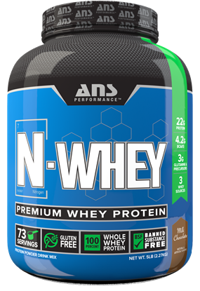 Picture of ANS Performance N Whey premium whey protein 5 lbs Chocolate
