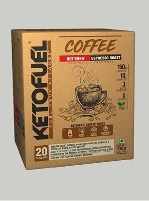 Picture of Ketofuel HOT BREW Keto-Coffee Espresso Roast 20 pks