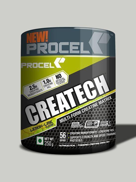 Picture of PROCEL CREATECH Multi-Form Creatine Matrix 58 Servings Lemon Lime